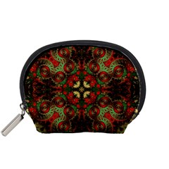 Fractal Kaleidoscope Accessory Pouches (small)  by BangZart