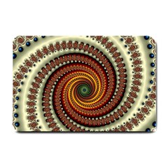 Fractal Pattern Small Doormat  by BangZart