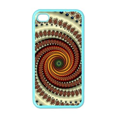 Fractal Pattern Apple Iphone 4 Case (color) by BangZart