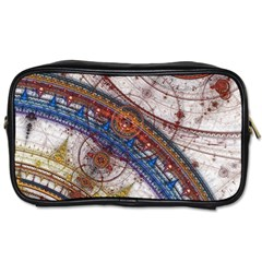 Fractal Circles Toiletries Bags by BangZart