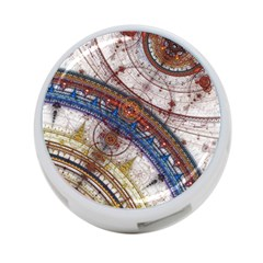 Fractal Circles 4 Port Usb Hub (two Sides)  by BangZart