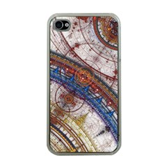 Fractal Circles Apple Iphone 4 Case (clear) by BangZart