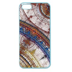 Fractal Circles Apple Seamless Iphone 5 Case (color)