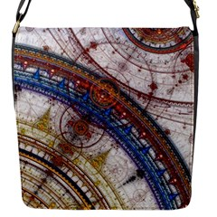 Fractal Circles Flap Messenger Bag (s)
