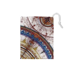 Fractal Circles Drawstring Pouches (small)  by BangZart