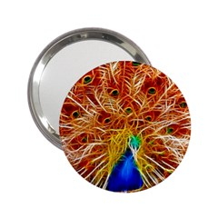 Fractal Peacock Art 2 25  Handbag Mirrors
