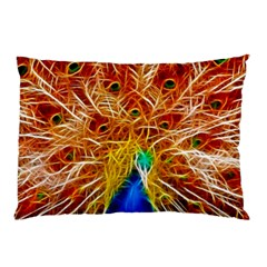 Fractal Peacock Art Pillow Case