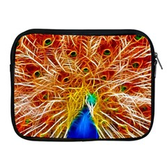 Fractal Peacock Art Apple Ipad 2/3/4 Zipper Cases