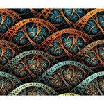 Fractal Art Pattern Flower Art Background Clored Deluxe Canvas 14  x 11  14  x 11  x 1.5  Stretched Canvas
