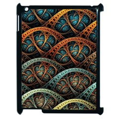 Fractal Art Pattern Flower Art Background Clored Apple Ipad 2 Case (black)