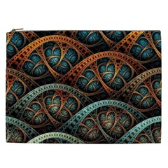 Fractal Art Pattern Flower Art Background Clored Cosmetic Bag (xxl)  by BangZart