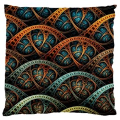 Fractal Art Pattern Flower Art Background Clored Standard Flano Cushion Case (two Sides)