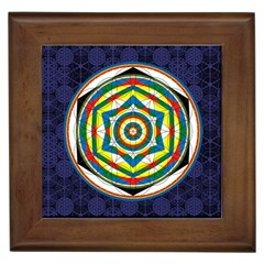 Flower Of Life Universal Mandala Framed Tiles by BangZart