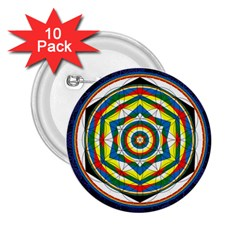 Flower Of Life Universal Mandala 2 25  Buttons (10 Pack)  by BangZart