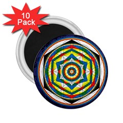 Flower Of Life Universal Mandala 2 25  Magnets (10 Pack)  by BangZart