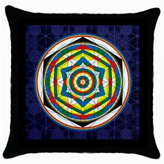 Flower Of Life Universal Mandala Throw Pillow Case (black)