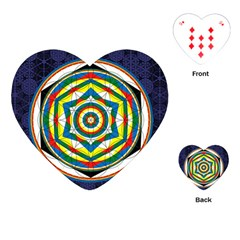 Flower Of Life Universal Mandala Playing Cards (heart)  by BangZart