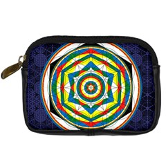 Flower Of Life Universal Mandala Digital Camera Cases by BangZart