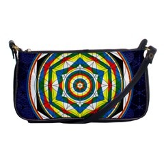 Flower Of Life Universal Mandala Shoulder Clutch Bags by BangZart