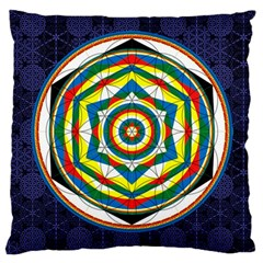 Flower Of Life Universal Mandala Large Cushion Case (two Sides)