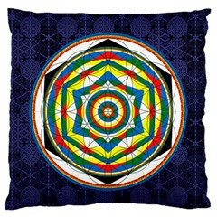 Flower Of Life Universal Mandala Standard Flano Cushion Case (one Side) by BangZart