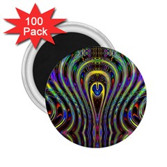 Curves Color Abstract 2 25  Magnets (100 Pack)