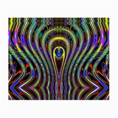 Curves Color Abstract Small Glasses Cloth by BangZart