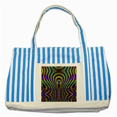 Curves Color Abstract Striped Blue Tote Bag