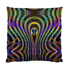 Curves Color Abstract Standard Cushion Case (two Sides) by BangZart
