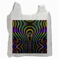Curves Color Abstract Recycle Bag (one Side) by BangZart