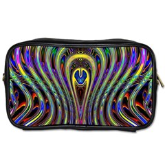Curves Color Abstract Toiletries Bags 2 Side