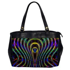 Curves Color Abstract Office Handbags