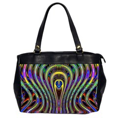 Curves Color Abstract Office Handbags (2 Sides)