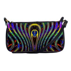 Curves Color Abstract Shoulder Clutch Bags by BangZart