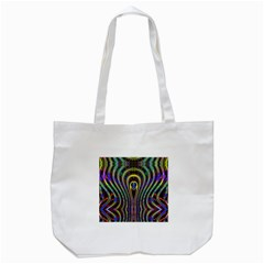 Curves Color Abstract Tote Bag (white)