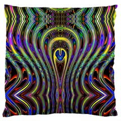 Curves Color Abstract Standard Flano Cushion Case (two Sides) by BangZart