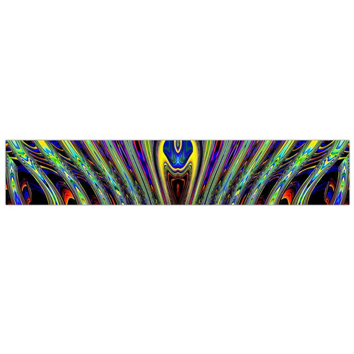 Curves Color Abstract Flano Scarf (Large)