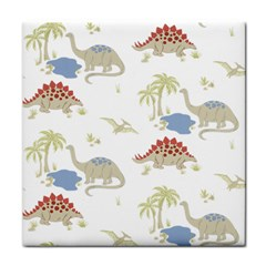 Dinosaur Art Pattern Tile Coasters by BangZart