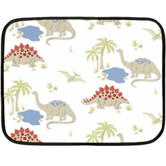 Dinosaur Art Pattern Double Sided Fleece Blanket (mini)  by BangZart