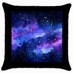 Galaxy Throw Pillow Case (black) by Kathrinlegg