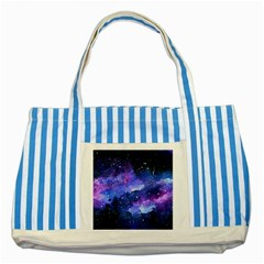 Galaxy Striped Blue Tote Bag by Kathrinlegg