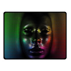 Digital Art Psychedelic Face Skull Color Fleece Blanket (small) by BangZart