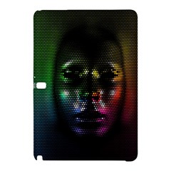 Digital Art Psychedelic Face Skull Color Samsung Galaxy Tab Pro 10 1 Hardshell Case by BangZart
