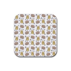 Cute Hamster Pattern Rubber Coaster (square)  by BangZart