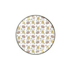 Cute Hamster Pattern Hat Clip Ball Marker (10 Pack) by BangZart