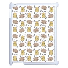 Cute Hamster Pattern Apple Ipad 2 Case (white) by BangZart