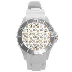 Cute Hamster Pattern Round Plastic Sport Watch (l) by BangZart