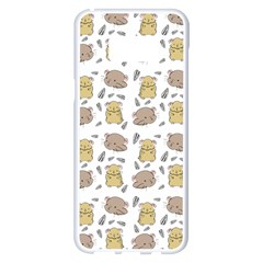 Cute Hamster Pattern Samsung Galaxy S8 Plus White Seamless Case by BangZart