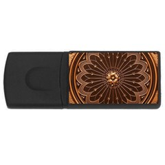 Decorative Antique Gold Rectangular Usb Flash Drive by BangZart
