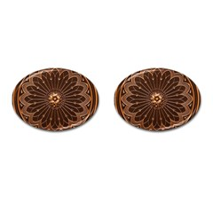 Decorative Antique Gold Cufflinks (oval) by BangZart